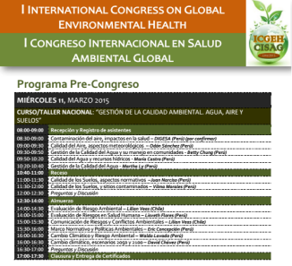 Programa Congreso Intl Salud Ambiental Global
